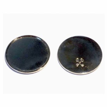 Metal Token 25mm Recess with Clear Dome